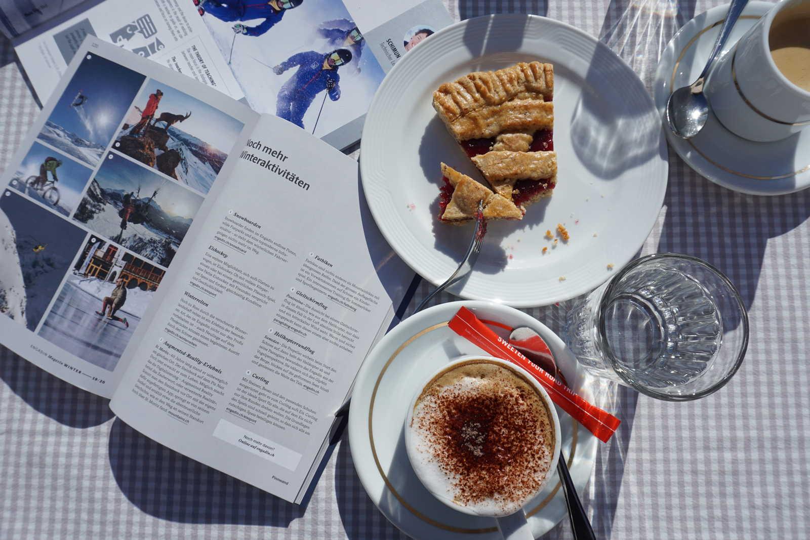 kaffee und kuchen in st. moritz suvretta hang